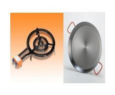 Vaello Campos Q400- Brenner Gasgrill + 400mm poliert 42cm