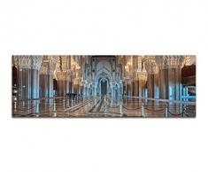 Panoramabild auf Leinwand und Keilrahmen 150x50cm Marokko Moschee Innenraum Ornamente