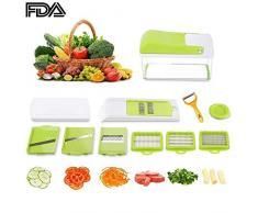 Make Real Gemüsehobel Gemüseschneider Gemüse und Obst Schneiden, Multischneider, Gemüseschäler, Gemüsereibe