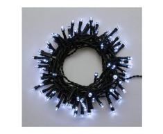 XMASKING LED-Lichterkette 4,75 m, 96 LEDs kaltweiß, batteriebetrieben, Zeitschaltuhr 6/18, mit Lichtspielen, Weihnachtsbeleuchtung, Weihnachtslichterkette, Weihnachtsbaumbeleuchtung