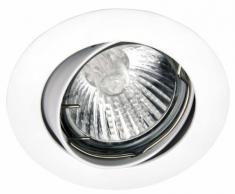 Brilliant Felizia Einbauleuchte schwenkbar, IP23, ⌀ 81 mm, Metall (Zamak) GU10 1 x 50 Watt, weiß G94509A05