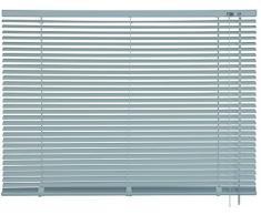 mydeco® 100 x 240 cm Aluminium Jalousie Edelstahl; inkl. Bedienstab, Deckenträger + Befestigungsmaterial Innenjalousie Sonnen- und Sichtschutz; fein regulierbar