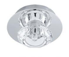 EGLO 91192 Deckenleuchte, Kristall, G9, transparent