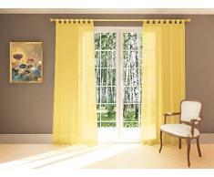 Splendid DIANA Konfektion Vorhang mit Schlaufen, 140 x 245 cm, gelb