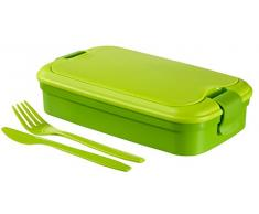 CURVER Besteck Lunchbox, Plastik, grün, 23.5 x 13.5 x 6.3 cm