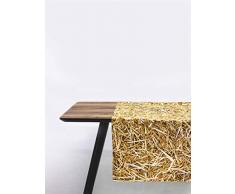 FOONKA Tischläufer 150x50 cm, 100% Baumwolle, Cotton, Stroh, Beige, Braun