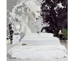 Apalis 94722 Vlies / Fototapete Milk und Coffee Breit | Vlies Tapete Wandtapete Wandbild Foto 3D Fototapete für Schlafzimmer Wohnzimmer Küche | Größe: 225x336 cm
