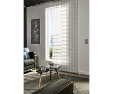 Gardinia 30322 Flächenvorhang Day und Night, 60 x 245 cm, Karo weiß