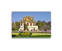 Premium Textil-Leinwand 45 x 30 cm Quer-Format Pavillon im Königspalast in Phnom Phen   Wandbild, HD-Bild auf Keilrahmen, Fertigbild auf hochwertigem Vlies, Leinwanddruck von Harry Müller