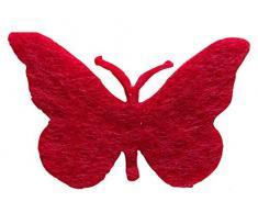 Petras Bastel-News A-SCF5005-28 Streudeko, 50 x Schmetterling 50 mm, filz / rot