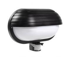 Maclean MCE33 PIR Wand Plafond mit Bewegungssensor 60W 180° Bewegungsmelder Lampenhalter E27 Wandleuchte