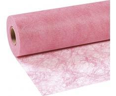 25m Sizoflor ® Original Tischband Tischläufer Tischdeko Faserseide 30cm/300mm, Farbe:Rosa