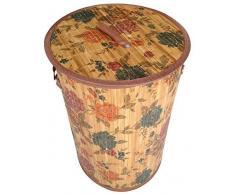 GMMH Original LN45 Bambus Wäschekorb Aufbewahrungsbox Wäschetruhe Wäschebox Wäschesammler Korb