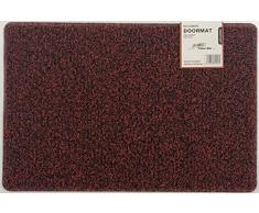 Nicoman Schmutzfänger Barrier Fußmatte schwere Bodenmatte-(Geeignet für Innen- und Schützen Außen), Mittel (75x44cm), Rot schwarz