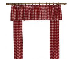 Wirth Vorhang, Polyacryl, Rot, 200 x 115 cm, 2-Einheiten