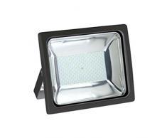 V-TAC 5639 LED 100 W Fluter Scheinwerfer Strahler Licht 4500 K, IP65 8000 lm, - Ersetzt 400 W Halogen - Gehäuse Aluminiumdruckguss, schwarz / tagweiß VT-47101