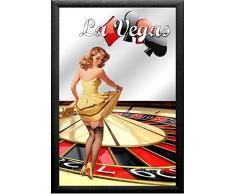 empireposter - Las Vegas - Casino - Roulette - Größe (cm), ca. 20x30 - Bedruckter Spiegel, NEU - Beschreibung: - Bedruckter Wandspiegel mit schwarzem Kunststoffrahmen in Holzoptik -
