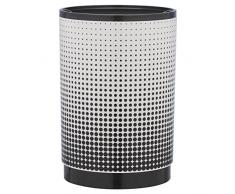 Sealskin Eimer Speckles, Abfalleimer, ABS, schwarz/weiß, 17,9 x 17,9 x 26 cm