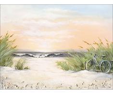 Pro-Art ok289w5 Wandbild Canvas-Art Strandausflug, 116 x 84 cm