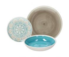 Tognana LS170185608 Tafelservice 18-teilig, Mosaikblau, Stoneware