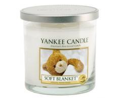 """Yankee Candle """"Soft Blanket"""" Stumpenkerze, weiß, Klein"""