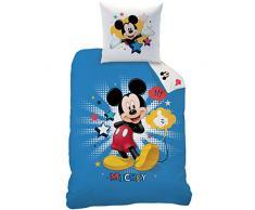 Disney Mickey 043971 Bettwäsche Mickey Star, Baumwolle Renforce, 135 x 200 + 80 x 80 cm