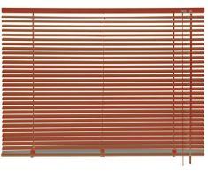 mydeco® 180 x 175 cm Aluminium Jalousie Terracotta; inkl. Bedienstab, Deckenträger + Befestigungsmaterial Innenjalousie Sonnen- und Sichtschutz; fein regulierbar