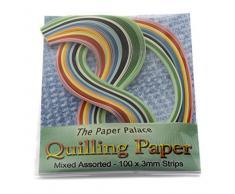 Backform Master Quilling Papier, gemischte Pergament, 3mm, 100Stück Streifen
