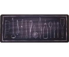 Fußmatte Schmutzfangmatte Küche Küchenläufer Deco-Flair Kitchen Küchenzubehör anthrazit 45 x 75 cm rutschfest und waschbar