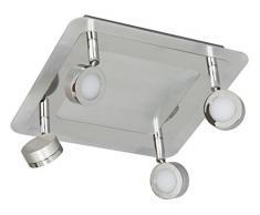 Ranex 3000.070, LED Badezimmer 4-fach Spot Treviso Chrom, Stahl, chrome, 9.5 x 27 x 27 cm