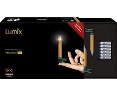 KRINNER Lumix Premium - kabellose Christbaumkerzen Erweiterungs-Set, Gold 75453