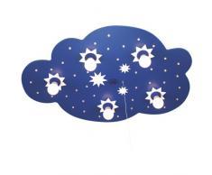 Elobra Deckenleuchte Sternenwolke, dunkelblau 124215