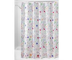 InterDesign Doodle Duschvorhang | Vorhang für Badewanne und Dusche in 180,0 cm x 200,0 cm | Bad Duschvorhang mit grafischem Muster| Polyester bunt