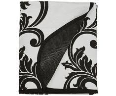 Eurofirany Tagesdecke, Polyester-Baumwolle, Grey/Black, 170 x 210 x 1 cm