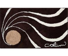 Grund COLANI Exklusiver Designer Badteppich 100% Polyacryl, ultra soft, rutschfest, ÖKO-TEX-zertifiziert, 5 Jahre Garantie, Colani 18, Badematte 60x100 cm, braun