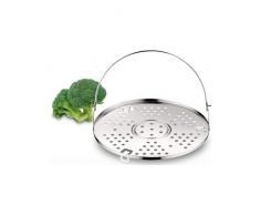 Lagostina Zubehör für Schnellkochtopf Grill, Edelstahl, Durchmesser 22 cm, Kapazität: 3,5/5/6/7/9 Liter