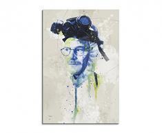 Paul Sinus Art Breaking_Bad_Heisenberg_Aqua_90x60cm Wandbild Leinwand, 90 x 50 x 3 cm, mehrfarbig