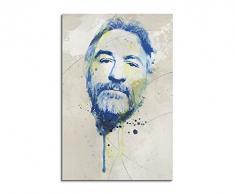 Paul Sinus Art Robert_De_Niro_II_Aqua_90x60cm Wandbild Leinwand, 90 x 50 x 3 cm, mehrfarbig