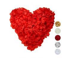 Relaxdays Rosenblätter 3000er Pack, Streudeko für Hochzeit, Valentinstag & Jahrestag, Rosenblüten künstlich, rot