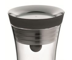 WMF Basic Deckel, schwarz, Karaffe Wasserkaraffe Glaskaraffe Ersatzteil, Cromargan Edelstahl rostfrei Silikon, spülmaschinengeeignet