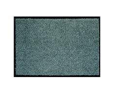 ASTRA hochwertiger Schmutzfangmatte – waschbarer Fußabstreifer – robust – langlebige Fußabtreter – für den Indoorbereich – grau – 60 x 180 cm