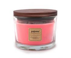 Pajoma Duftkerze Grapefruit-Cassis, 340 g, im Glas mit Holzdeckel, NEU Premium Edition, für circa 40 Stunden
