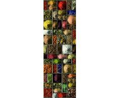 PLAGE 162260 Aufkleber für Küchen und Kühlschrank- Gewürze - Vinyl 180 x 0.1 x 59,5 cm, bunt