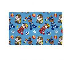 Offizielle Paw Patrol Super Pups Fleece-Decke, Überwurf, Blau Mighty Pups Design, super weiche Decke, perfekt für jedes Schlafzimmer