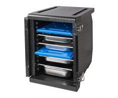 Thermo Future Box Cateringbox, Frontlader, EPP (expandiertes Polypropylen), schwarz, innen 530 x 335 x 525 mm