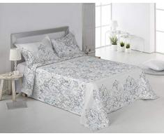 SECANETA Stilia Tagesdecke für Frühjahr/Sommer, mit passenden Kissen, 180 x 270 cm, für 90 cm Bett, Mehrfarbig, 180 x 270 cm