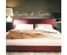INDIGOS WG30023-31 Wandtattoo w023 Spruch Engelchen und Teufelchen 120 x 19, rot