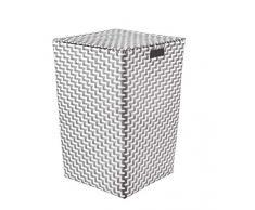 Kleine Wolke Wäschebox, 100% Polypropylen, Platin, 35x55 cm