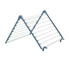 Meliconi Lock Bath Wäscheständer für Badewanne, Metall, Blau, 58.8 x 61.8 x 4 cm, 5