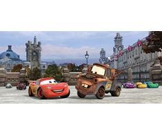 AG Design FTDh 0624 Cars Disney London, Papier Fototapete Kinderzimmer - 202x90 cm - 1 Teil, Papier, multicolor, 0,1 x 202 x 90 cm